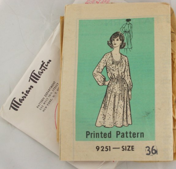 Marian Martin 9251 Mail Order VINTAGE PATTERN Dress Sz36