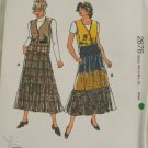 1997-Tiered Skirt,Vest-KwikSew 2676-VINTAGE PATTERN Sz XS-XL