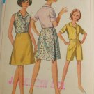 1967-Wrap Skirt/Short/Blouse-VINTAGE PATTERN SZ 42
