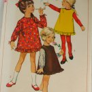 1966-Girl Dress Jumper-Simplicity 6604-VINTAGE PATTERN SZ 6X