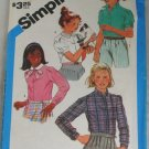 Girls Set of Blouses-Simplicity 6555 Sz 7,8