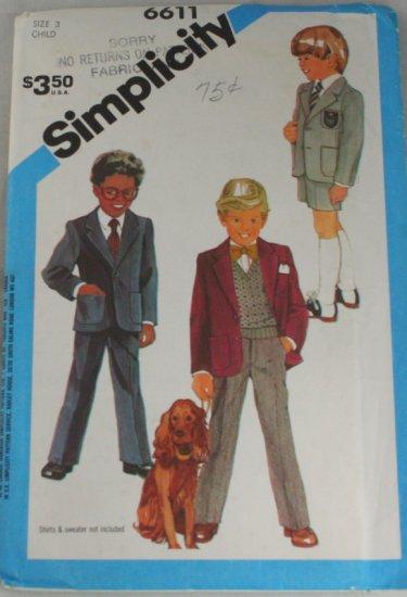 1984 Child Pant,Jacket-Simplicity 6611 Sz 3