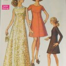 1969 Misses Long Dress -Simplicity 8498-VINTAGE PATTERN Sz12