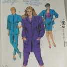 86 Misses Jacket,Tight-Kwik Sew-VINTAGE PATTERN Sz XS-L