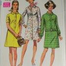1969 Misses Shirt Dress-Simplicity 8084-VINTAGE PATTERN Sz12