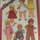 1983 Toddler Outfits-Simplicity 6362  Sz 1