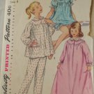 PJ,Nightgown-Girls-Simplicity 1828 sz 8