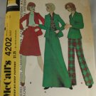 1974-Misses Jacket,Skirt-McCall's 4202-VINTAGE PATTERN Sz 14
