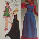 1971 Dress,Bib Jumper-Simplicity 9712-VINTAGE PATTERN Sz 16