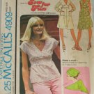 1976-Dress or Top-McCall's 4909-VINTAGE PATTERN Sz 8