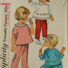 1965 Toddler Top, Pant-Simplicity 6236 VINTAGE PATTERN sz 2