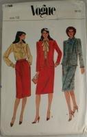 Vogue 7768-Misses Jacket,Skirt,Blouse Sz 12