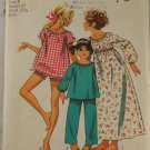 Girls PJ,Nightgown PatternSimplicity 5126 Sz 8