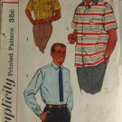 Men's Shirt-Simplicity 2081-VINTAGE PATTERN SZ Medium