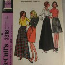 McCalls 3318 Misses A Line Knit Skirts Sz 24