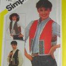 Misses Reversible String Quilted Vests Simplicity 5132-VINTAGE PATTERN SZ Sm,Med