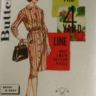 Misses Shirtdress in Half Sizes Butterick 2605-VINTAGE PATTERN SZ 16-1/2