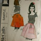 Misses Short Apron McCall's Sample-VINTAGE PATTERN SZ One
