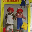 Mens,Womens Raggedy Ann & Andy Costumes McCall's 7743-VINTAGE PATTERN SZ L 40,42
