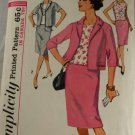 Misses Suit and Overblouse Half Sizes Simplicity 5320 SZ 16-1/2
