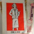 Misses Jacket Top and Skirt Mail Order 4706 VINTAGE PATTERN SZ 8