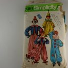 Adult Clown Costume Costumes  Simplicity 9051 SZ Med 36-38