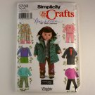 "Doll Clothes for 18""(45.5cm) Doll Simplicity 5733 VINTAGE PATTERN SZ one"