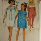 Girls One Piece Dress Simplicity 6379  SZ 12
