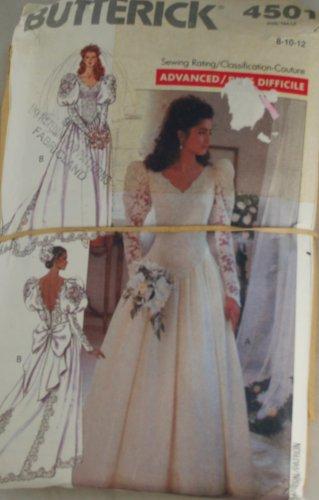Misses Wedding Gown Butterick 4501 Sz 8,10,12