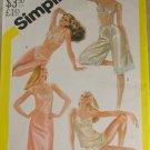 Misses Slip,Camisole,Bra,Panties 1982 VINTAGE PATTERN Simplicity 5549 Sz 8
