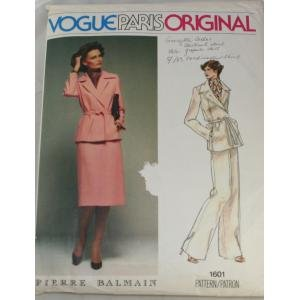Vogue Paris Original 1601 Pierre Balmain Misses Suit VINTAGE PATTERN  Sz 12