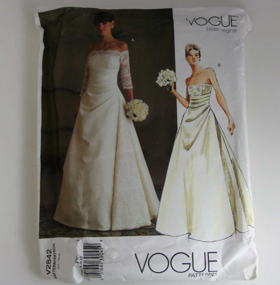Vogue Bridal Original  Misses Dress Vogue V2842  PATTERN SZ 18,20,22