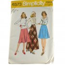 Simplicity 6573 Pattern Misses Bias Skirt in 3 Lengths--VINTAGE SZ 14