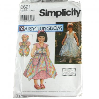 Daisy Kingdom Simplicity 0621 Girls Dress & Doll Clothes SZ 3-6