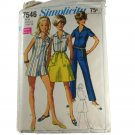 Simplicity 7546-Misses Jumpsuit & Back Wrap Mini-Skirt SZ 14