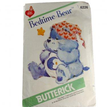 Butterick 6226 Care Bears Bedtime Bear VINTAGE PATTERN SZ one