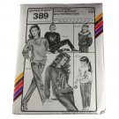 Stretch & Sew 389 Yoked Pullover,Holiday PATTERN Bust 30-46 Chest 21-31