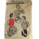 Advance 7921 Sewing Pattern Misses Shirtwaist Blouse Size 18