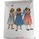 Mary De Dress  The Children's Corner Sewing  PATTERN SZ 3,4