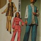 1970 Misses Vest,Tunic,Pants Designer  Simplicity 9077- SZ 16