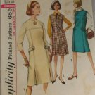1965 Misses Pleat Dress or Jumper Simplicity 6123 Size 16