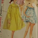 Teen Baby Doll Nightgown Simplicity 1451 1950s Size 16