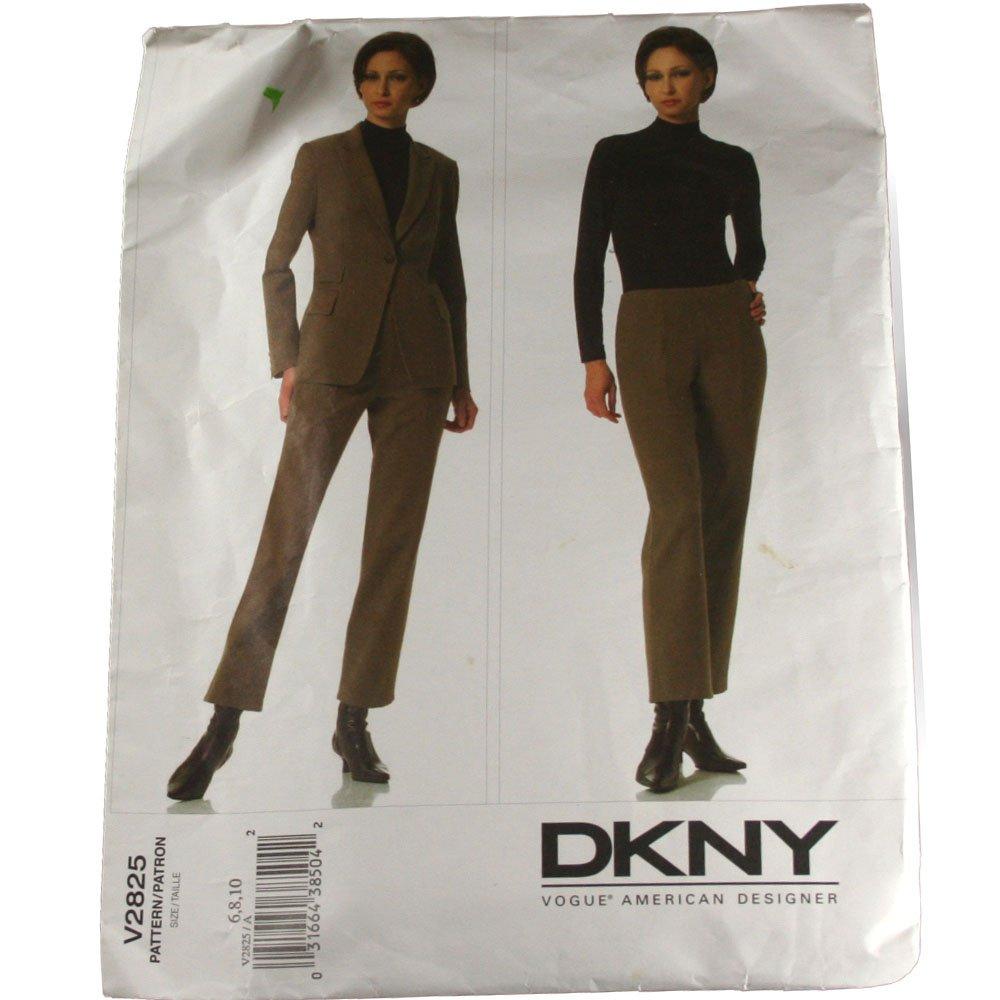 Vogue American Designer V2825 DKNY Misses Jacket and Pants SZ  6,8,10