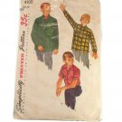 Simplicity 4100 1950s Boys Shirt  SZ 16