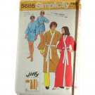 Simplicity  5685 Mens Jiffy Kimono Robe Sewing PATTERN Size Small 34-36