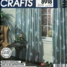 McCall's Crafts Pattern 8918 / 721 Window Essentials