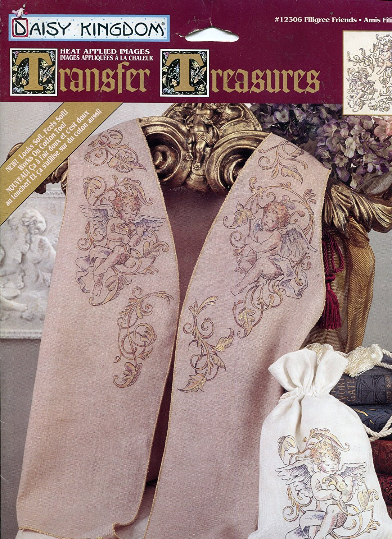 Daisy Kingdom Transfer Treasures Iron-On Transfer ~ Filigree Friends Cherub Angel