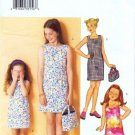 Butterick 3053 Sewing Pattern Girls Dress Bag Size 7 - 8 - 10
