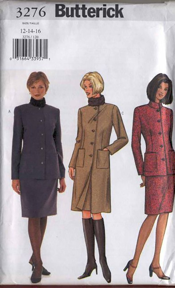 Butterick 3276 Long or short Jacket and Skirt Pattern 12-16