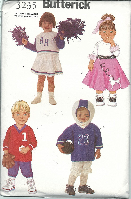 Butterick 3235 Sewing Pattern Boys / Girls Costumes Size1-4